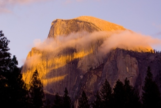 Half Dome Morning Light Yosemite 2006 by JMGatlin