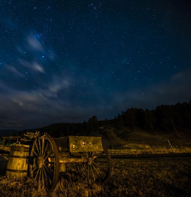 Nighttime sky